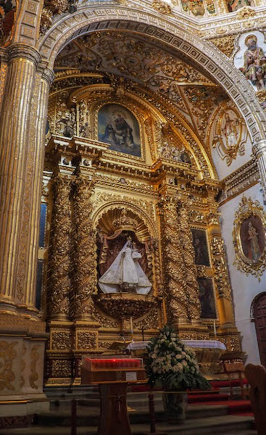 A church altar in Mexico