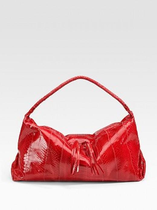 Carlos Falchi Handbags - Python Hobo