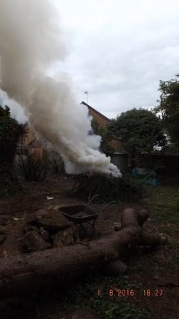 Smoke Spiraling Upwards
