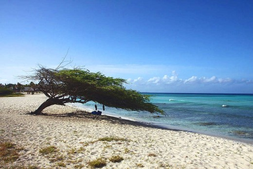 Aruba beaches are scorching hot at times during the summer.