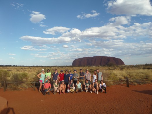 Our tour group to Uluru