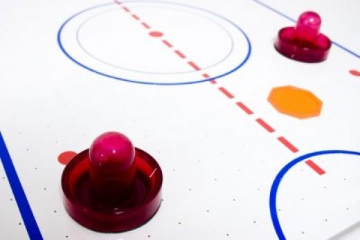 Air hockey...so much fun!
