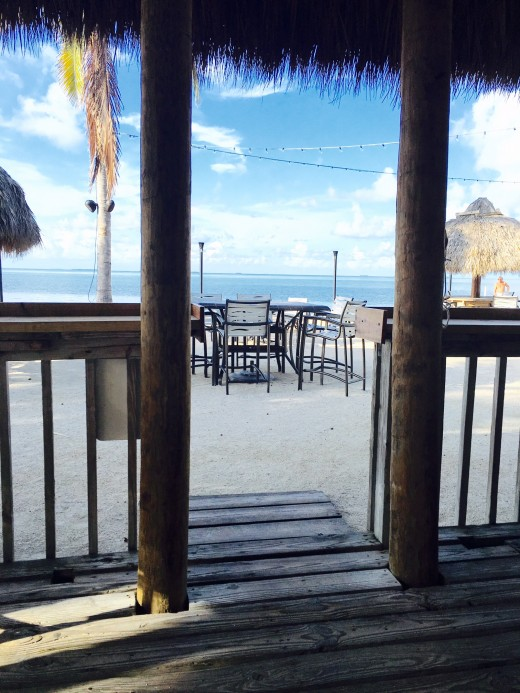 The Tiki Bar/ restaurant, called Lobster Crawl has great views of the Gulf waters only a few feet away.