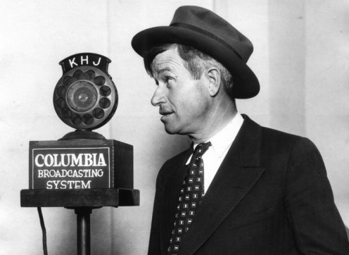 Here is Will Rogers in April 1930.  At the time of his death in 1935, Rogers had the most popular  Sunday evening radio show,  his newspaper columns