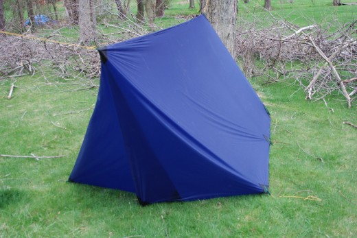 A sample of a Do-it-Yourself tent with your hammock