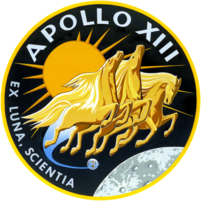 Apollo 13 mission insignia.
