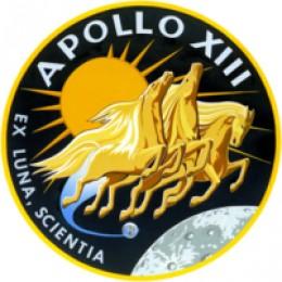 Apollo 13 mission insignia.