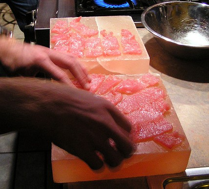 Cooking on a Himalayan Pink Salt Block
