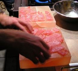 Cooking on a Himalayan Pink Salt Block