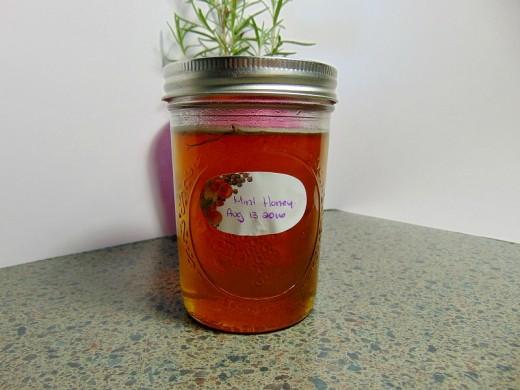 Mint Herbal Honey, warm infused