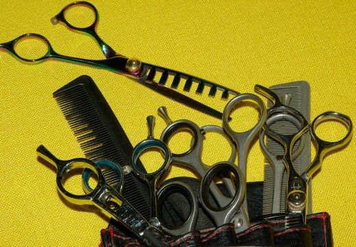 A set of scissors for professional and just one pair of scissors or a clipper for pet owner who owns one or two dogs only is enough to be added on a grooming kit.