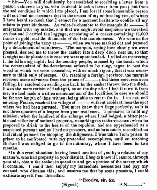 From the 1832 memoirs of Eugène François Vidocq