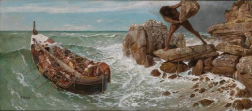 Odysseus and Polyphemus, by Arnold Böcklin (1827–1901)