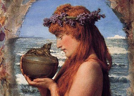 Pandora, by Lawrence Alma-Tadema (1836-1912)