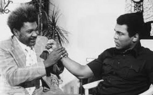 """Don King promoted many of Ali's biggest bouts including """"The Rumble in the Jungle"""" and """"The Thrilla in Manilla""""."""