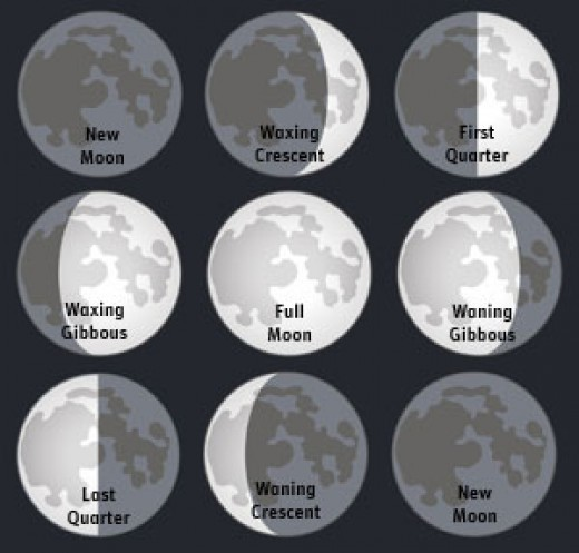What Each Phase of the Moon Looks Like. Gardening by the Moon   hubpages