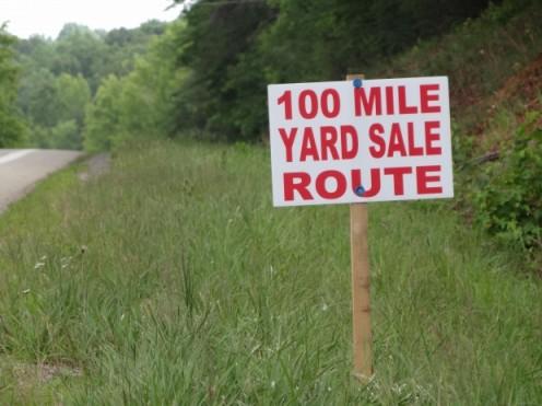 Watch for major community yard sale weekends.
