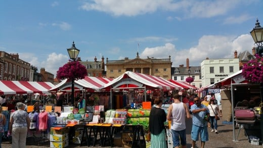 Weekly markets have been held here since a 12th century  charter permitting them was granted