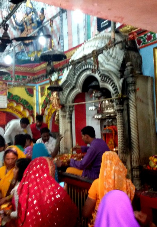 Inside Lalita Devi temple