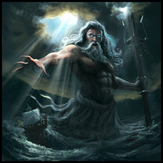 Poseidon, God of The Sea, from Greek mythology.