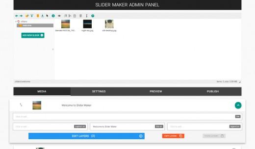 Slider Maker Admin Panel