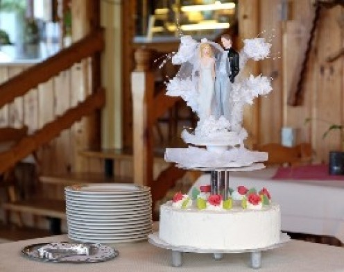 One layer wedding cake