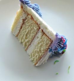 Sponge wedding cake with cream filling