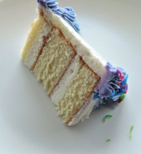 Sponge wedding cake with cream filling