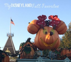 My Disneyland Fall Favorites