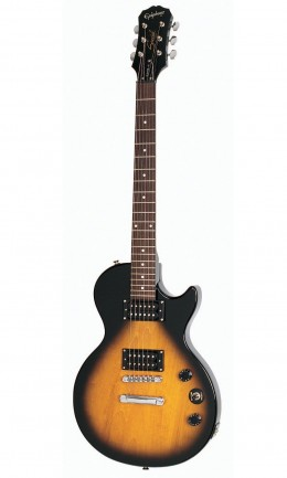 The Epiphone Les Paul Special II  is an awesome choice for a beginner!