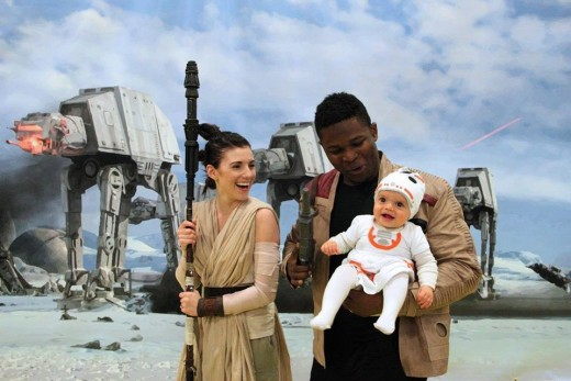 Rey, Finn and BB-8.