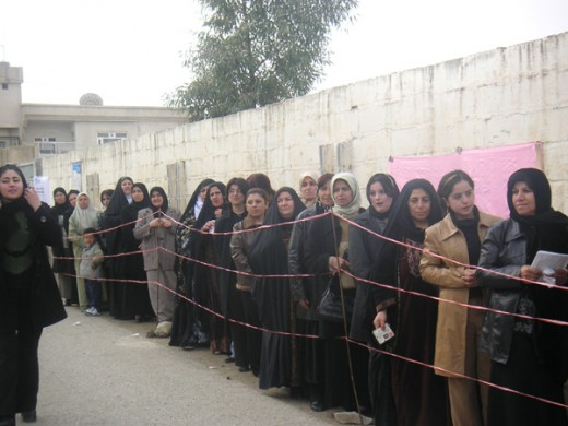 Iraqi Female voters 2005