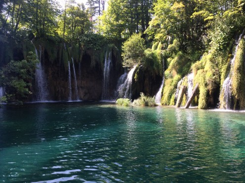 Waterfalls at Plitvice Lakes National Park.