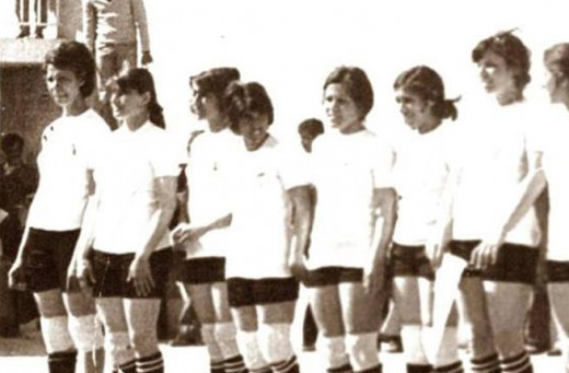 Iraqi Female Basketball Players in the 1970's.