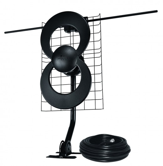 The Antennas Direct 2V HDTV Antenna lets you reel in free TV signals.