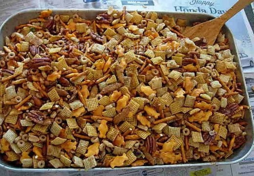 Texas Trash Chex Snack Mix