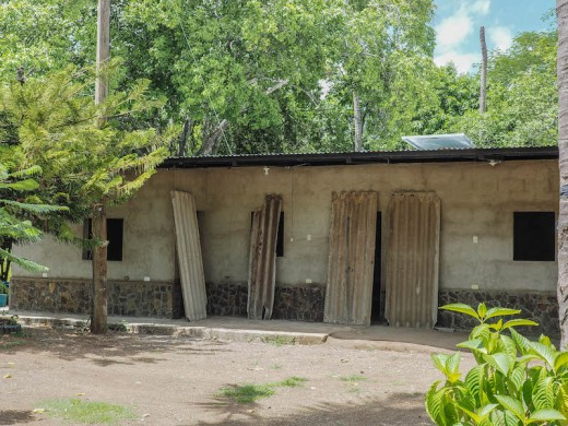 A bed and breakfast building currently under construction outside Somoto, Nicaragua