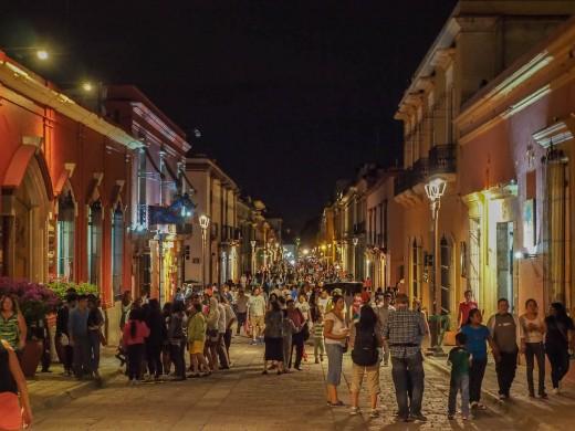 Street scene in San Cristobal de las Casas, Mexico