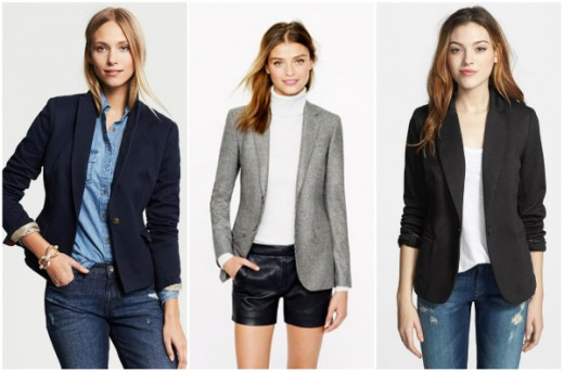 From left to right: Banana Republic, J.Crew, Nordstrom