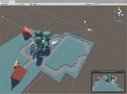 The scene view in Unity allows you to edit your game visually.