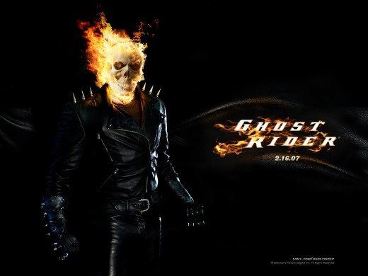 Ghost Rider premiered in the U.S. on February 16, 2007. Copyright Sony Pictures, Columbia Pictures, and Marvel Entertainment and obtained via www.moviestillsdb.com.