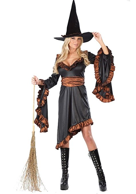 Want to be a witch for Halloween? There are many different kinds of costumes to choose from. You can see more outfits in different colors, styles and designs featured below.
