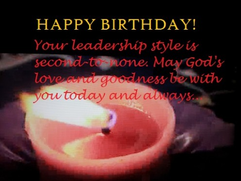 It is an honor to share this special day with such a great leader. Many happy returns of the day and God bless! It is an honor to share this special day with such a great leader. Many happy returns of the day and God bless!