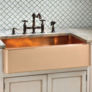 You can buy a brighter coloured sink if you get a copper bronze mix