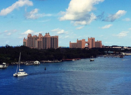 Nearly clear skies cover the Atlantis resort in Nassau more often from November through April.