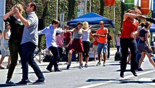 Social and fun street swing dancing