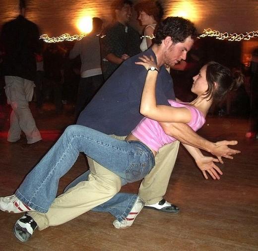 Swing dancing at the Midtown Stomp, Sacramento, California (USA)