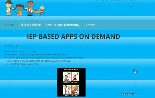 Learning apps are IEP-based to meet learning needs