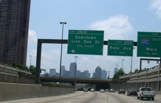 Central Expressway in Dallas