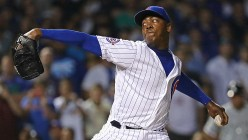 Aroldis Chapman - the hardest throwing pitcher in Major League Baseball.